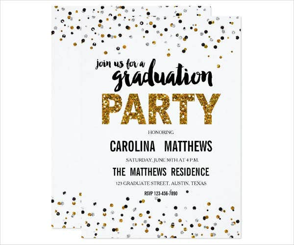 Graduation Party Invitation Banner