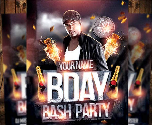 free psd surprise party flyer
