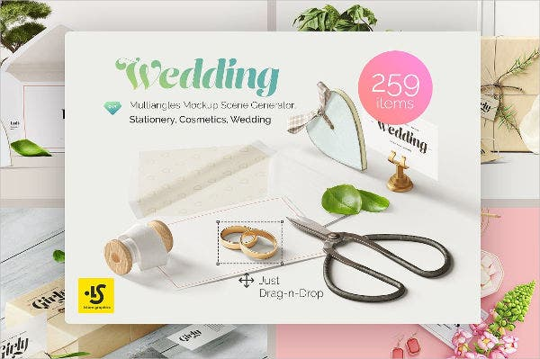 watercolor wedding invitation banner