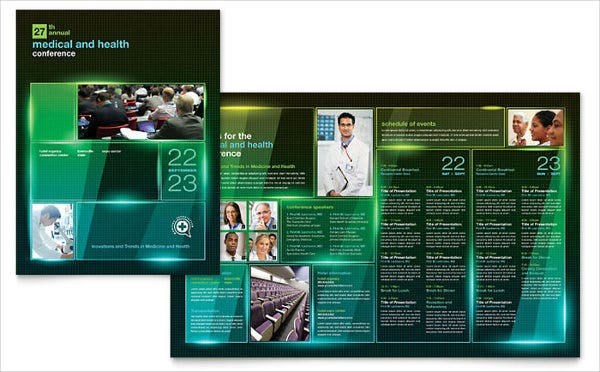 business medical event brochure
