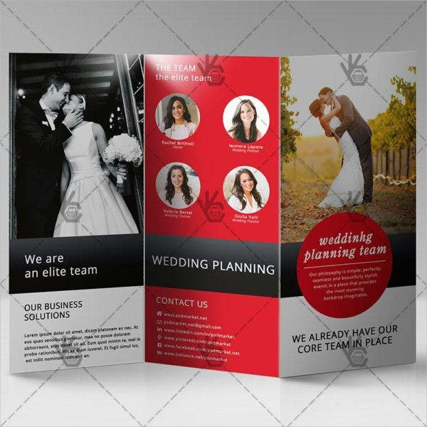 business wedding event brochure