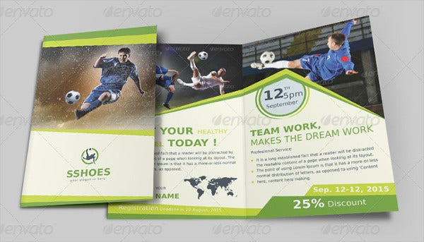 business sports event brochure