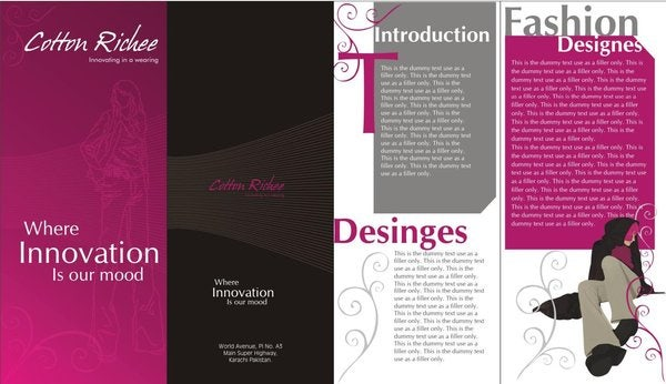 fashion business event brochure
