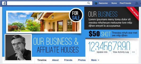 real estate website advertising banner
