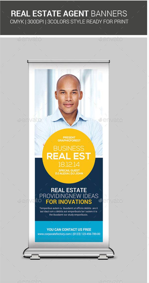 real estate agent advertising banner