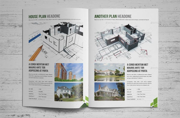 corporate modern real estate brochure