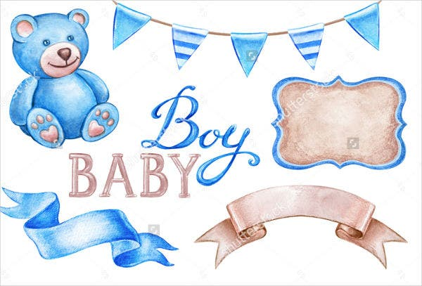 baby shower watercolor invitation banner