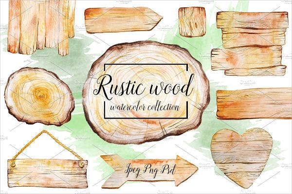 rustic watercolor invitation banner