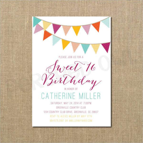 sweet-16-birthday-invitation-banner