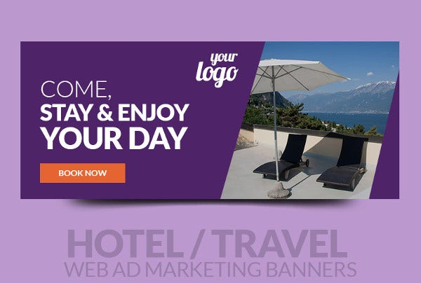 Editable Advertising Travel Banner
