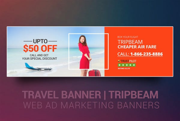 Advertising Web Travel Banner