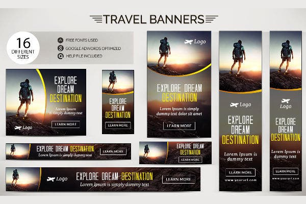 Advertising Travel Flash Banner