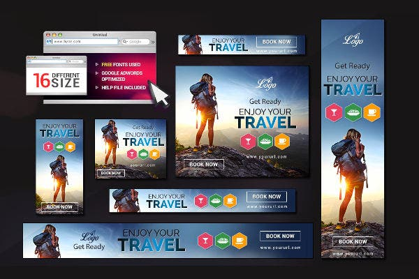 Advertising Tour Travel Banner