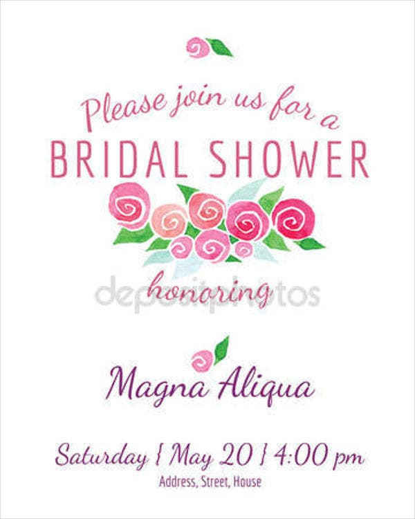 bridal shower watercolor invitation banner1