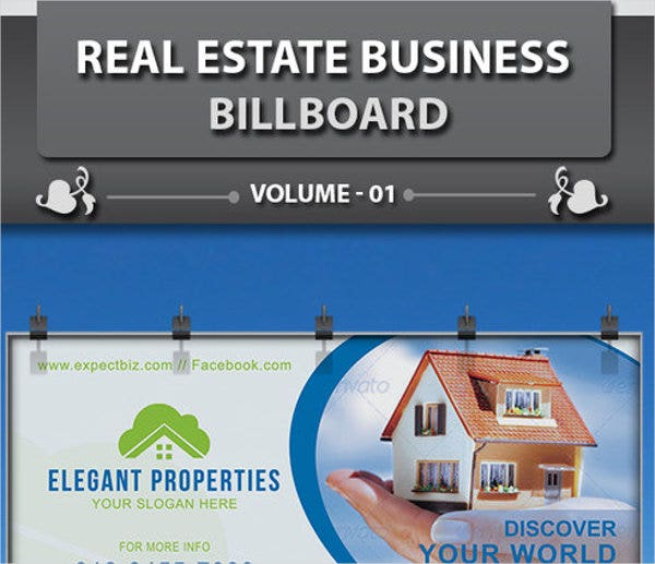 creative real estate advertising banner