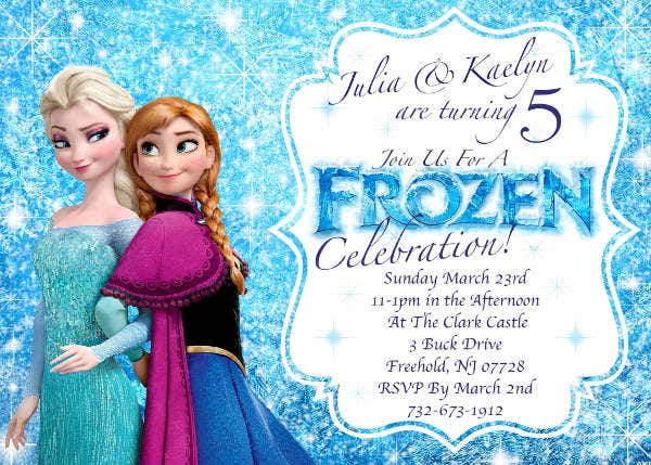 8 Frozen Party Invitation Templates Free Editable Psd Ai