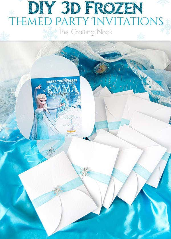 diy frozen party invitation