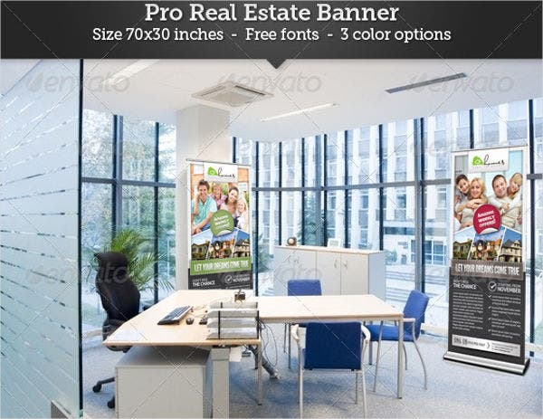 real estate outdoor advertising banner