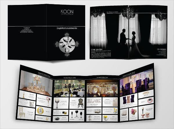corporate wedding event brochure