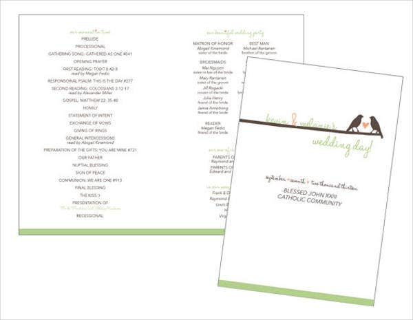 wedding program event brochure
