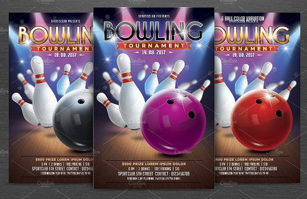 9 Bowling Party Flyers Design Templates Free