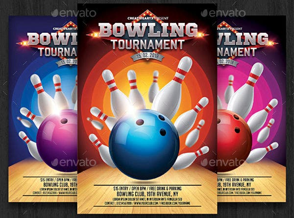 Bowling Invitation Party Flyer
