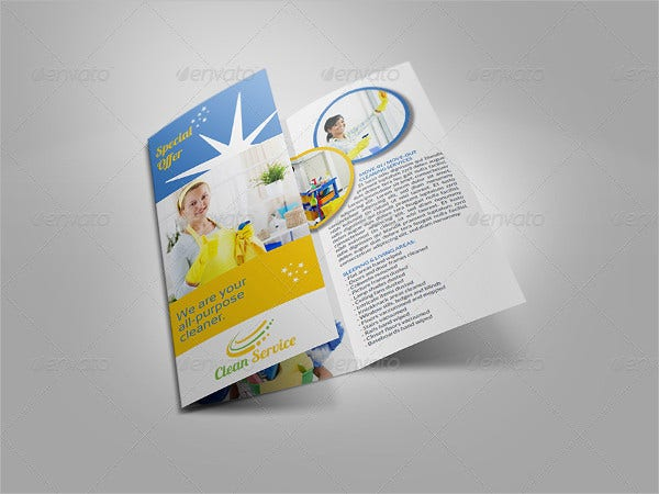 Cleaning Company Trifold Brochure