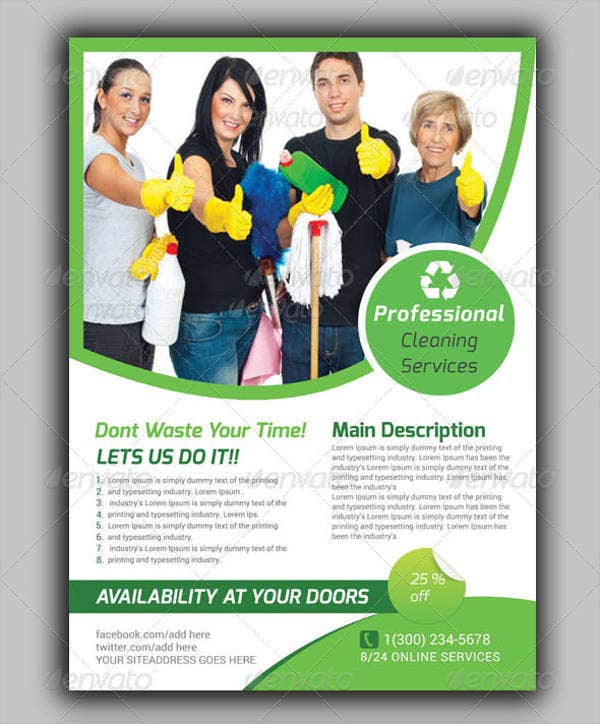 Cleaning Company Brochures  Editable Psd Ai Vector Eps Format