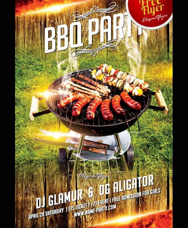 Bbq Party Flyers  Psd Vector Eps Indesign Pdf File Formats