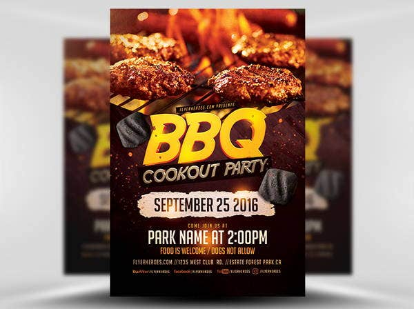 bbq cookout party flyer1