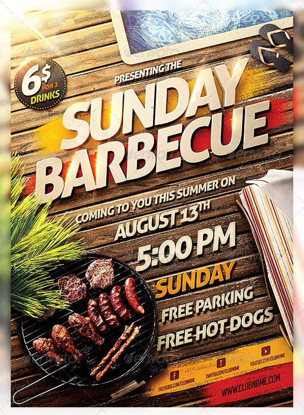 barbecue bbq party flyer1
