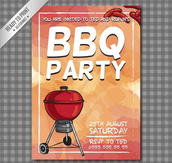 vintage bbq party flyer1