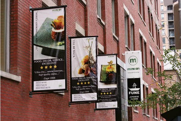 8  advertising hanging banners