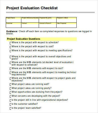 Project Evaluation Project Evaluation And Implementation Notes And