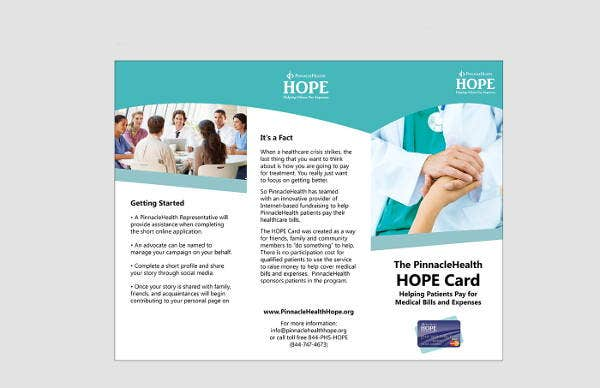 hospital fundraising event brochure
