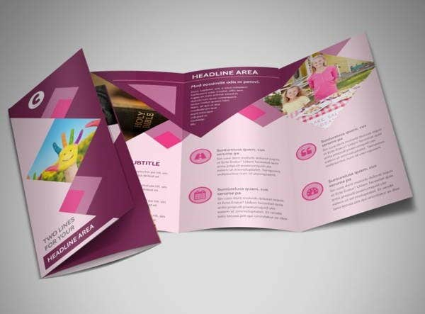 fundraising church event brochure