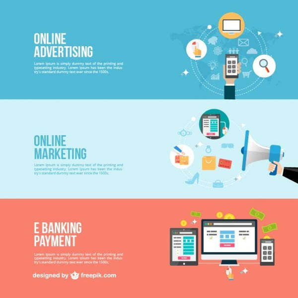 online business advertising banner