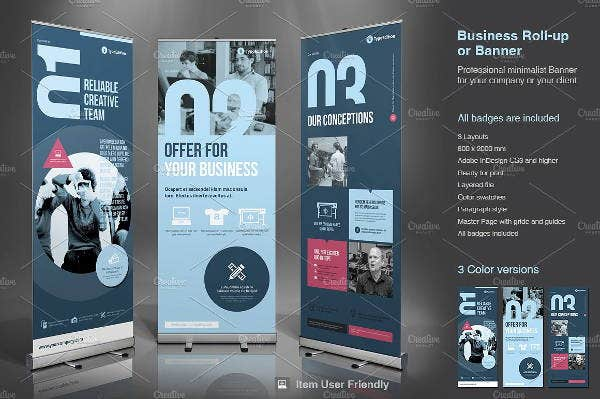business roll up advertising banner