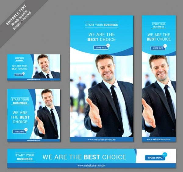 business advertising website banner