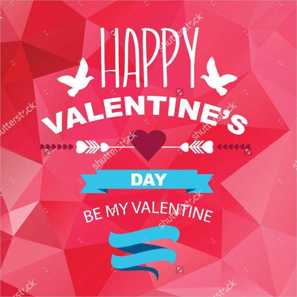 vector valentines day poster template