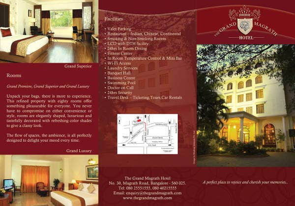 hotel event management brochure