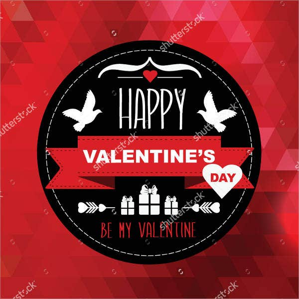 typography vector valentines day poster template