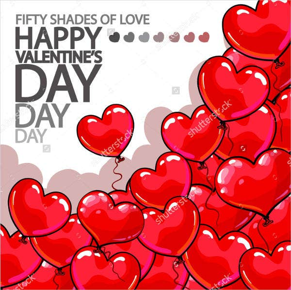 vector happy valentines day poster template