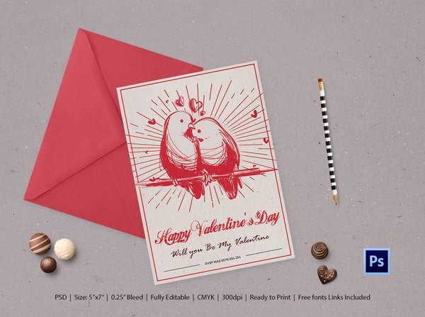 Printable Valentines Day Greeting Card