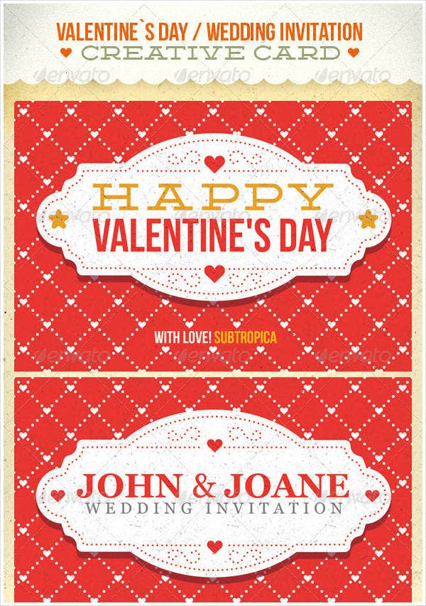 10 Valentine S Day Invitation Templates Psd Vector Eps