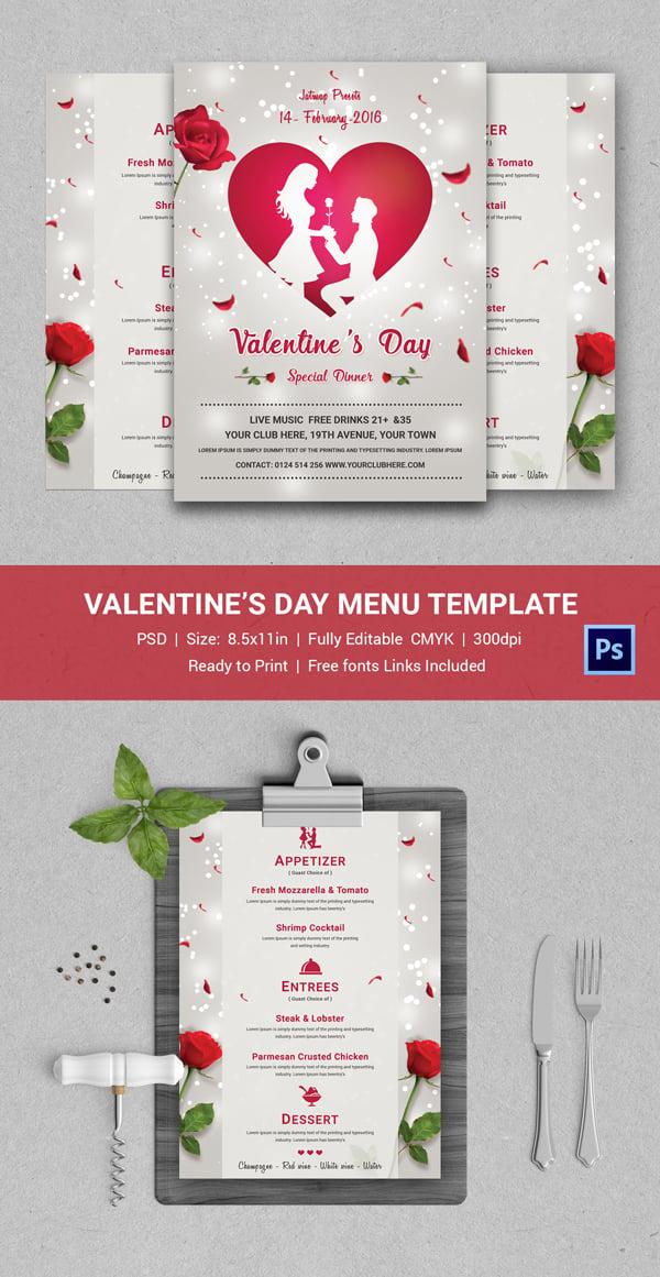 Romantic Valentines Day Menu