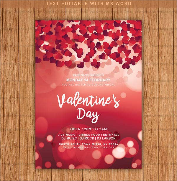 Valentines Day Invitation Templates PSD Vector EPS - Valentine's day invitation template