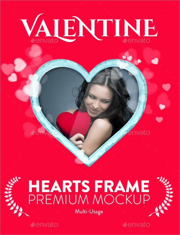 valentines day frame mockup