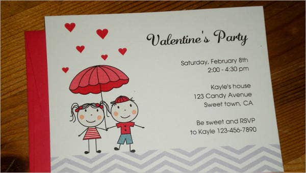 valentines day invitation templates