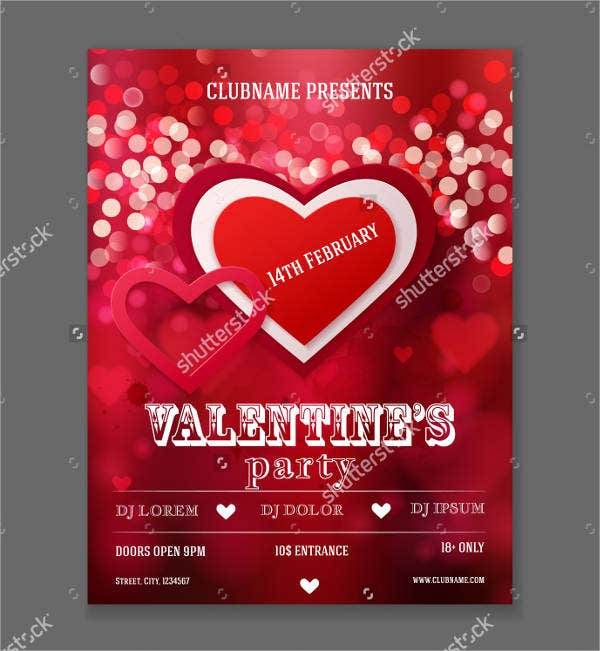 11 Valentine S Day Flyers Psd Vector Eps Indesign Free